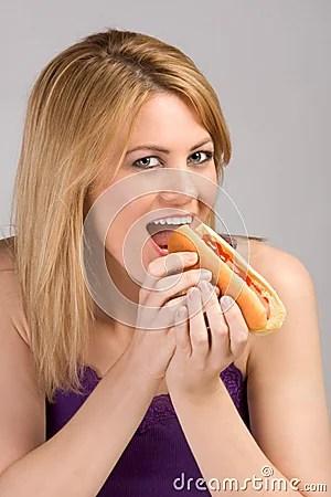 Image result for girl eating sausage
