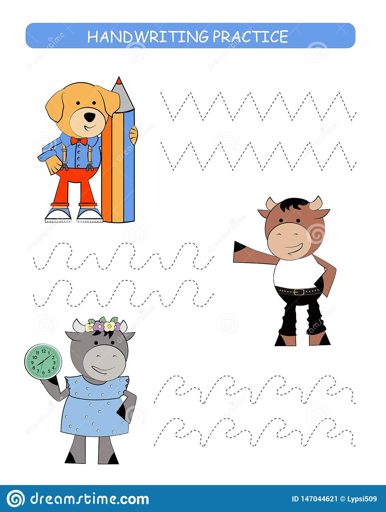 Vector Trace Educational Game For Preschool Kids Vector