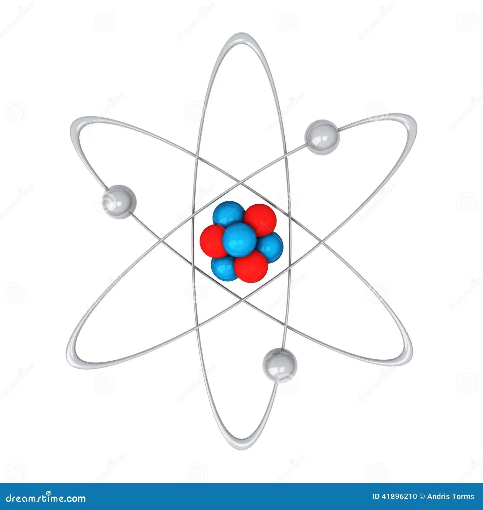 Atomo 3d Ilustracao Stock Ilustracao De Chemistry