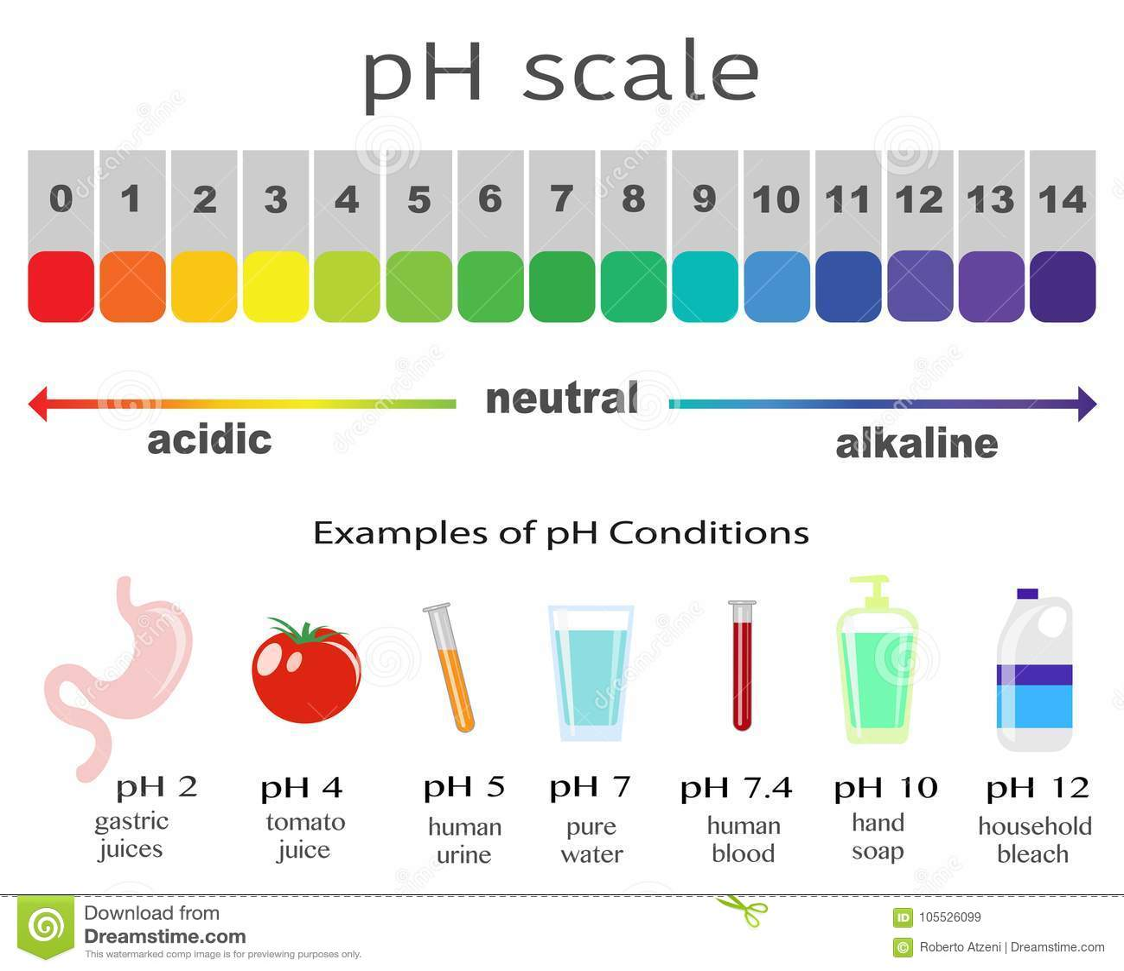 Echelle De Valeur Du Ph Pour Les Solutions Acides Et