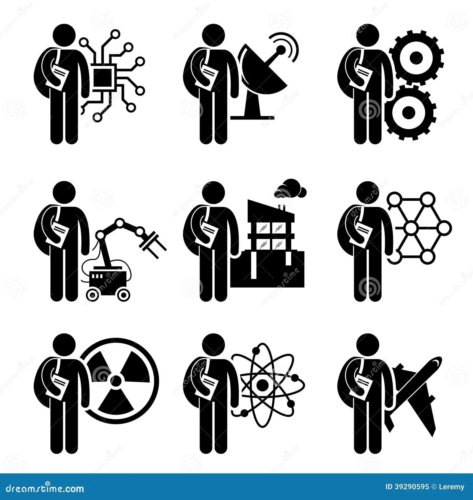 Etudiant Degree Dans L Ingenierie Illustration De Vecteur