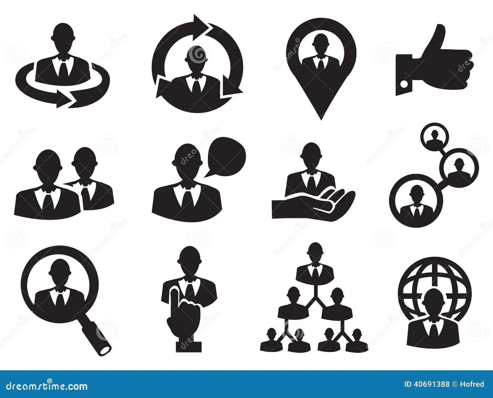 Icone Do Homem De Negocio Ajustado Para Recursos Humanos