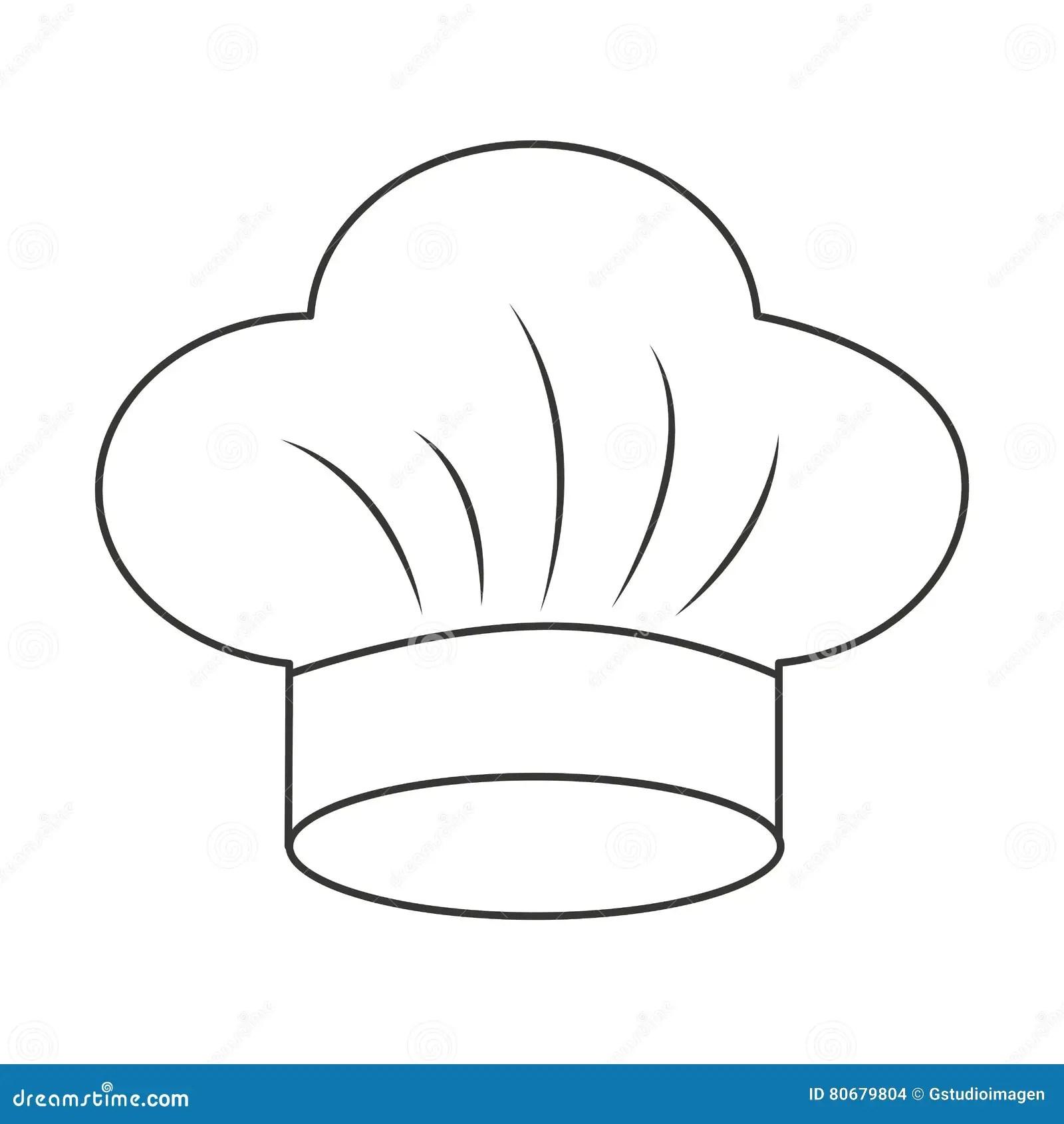 Icone Isolado Uniforme Do Cozinheiro Chefe Do Chapeu