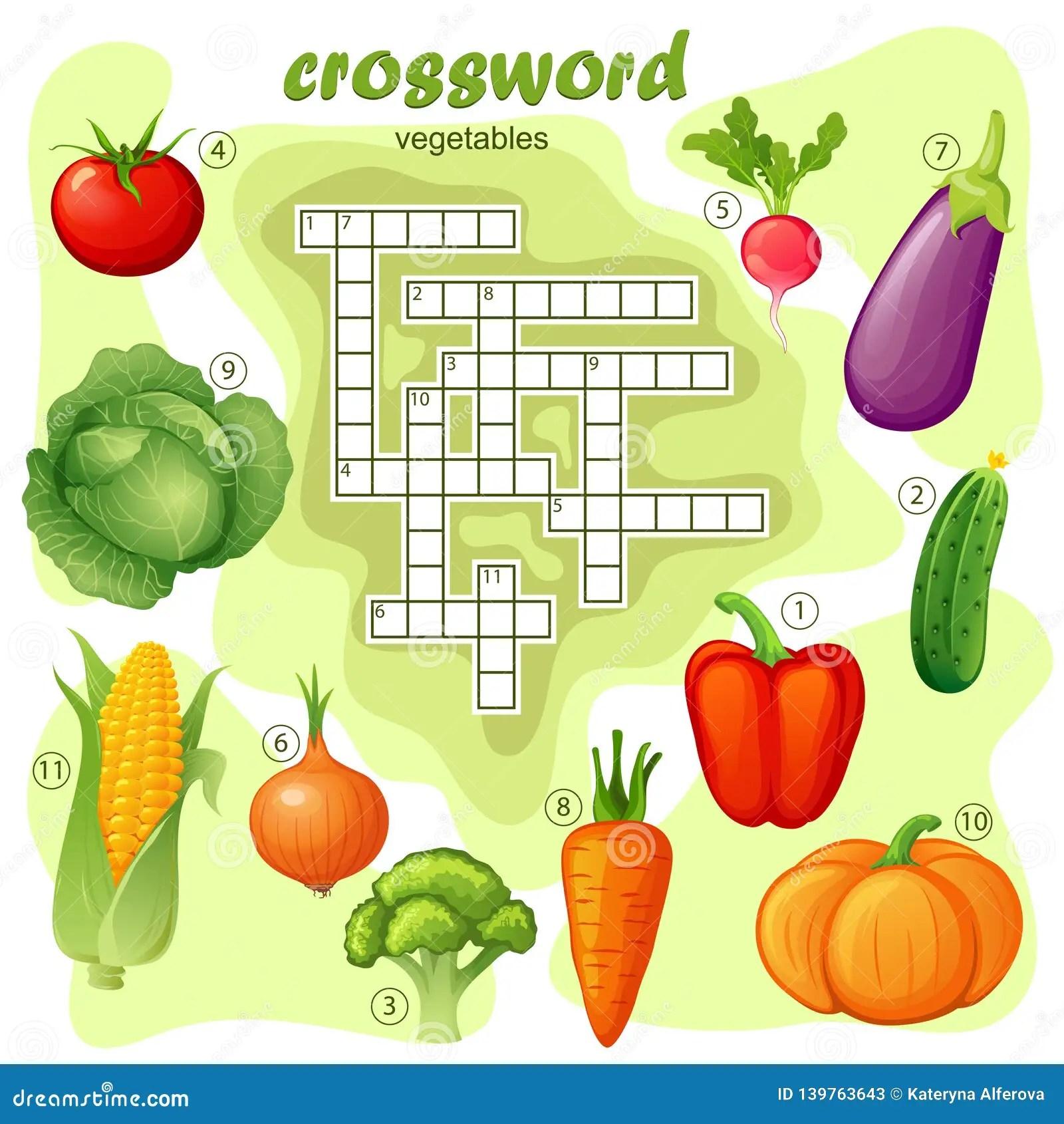 Food Crossword Puzzle Stock Illustrations 156 Food