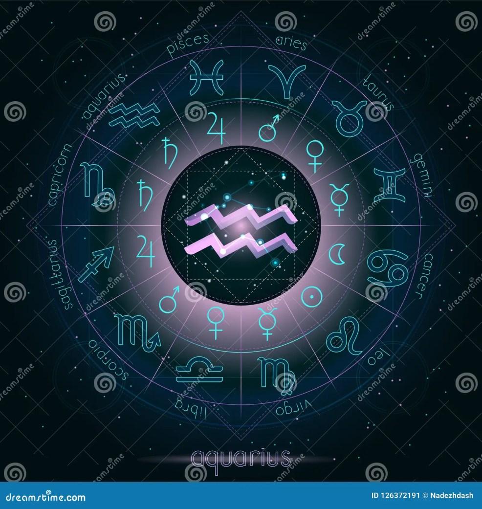 знак зодиака и водолей созвездия с гороскопом объезжают на