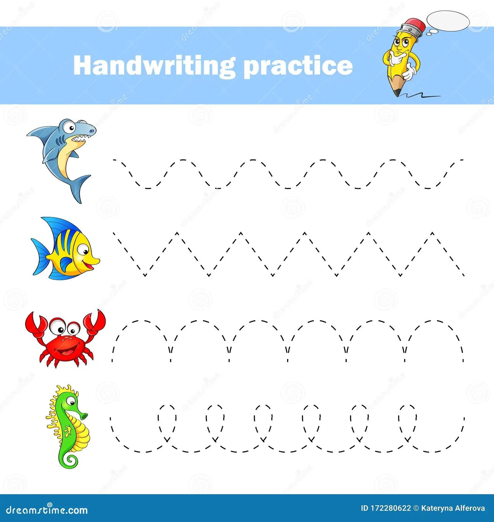 Worksheet For Practicing Fine Kids Motor Skills