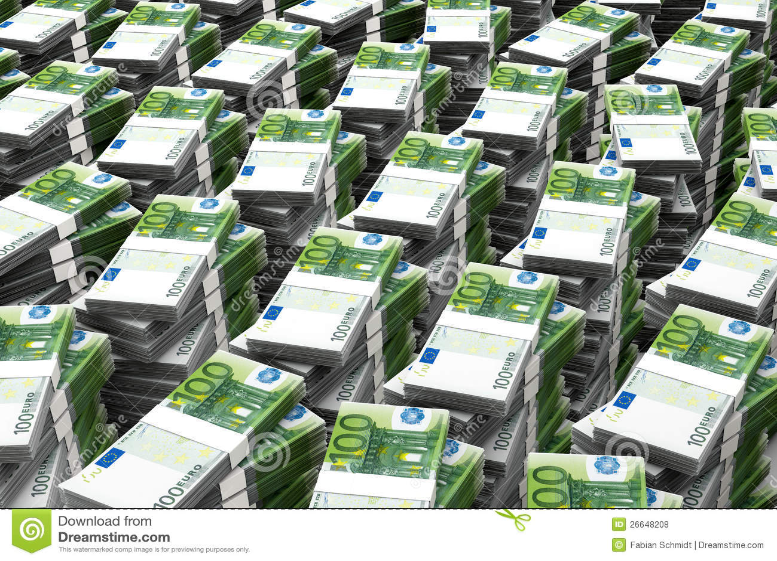 100 Euros Money Stack Stock Illustration Illustration Of