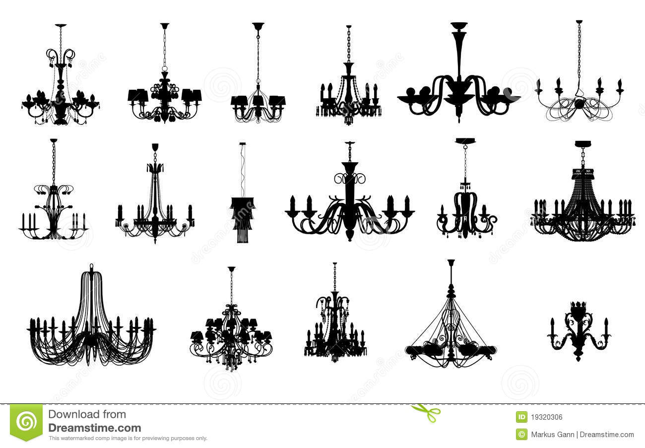 17 Different Shapes Of Chandelier Royalty Free Stock Image