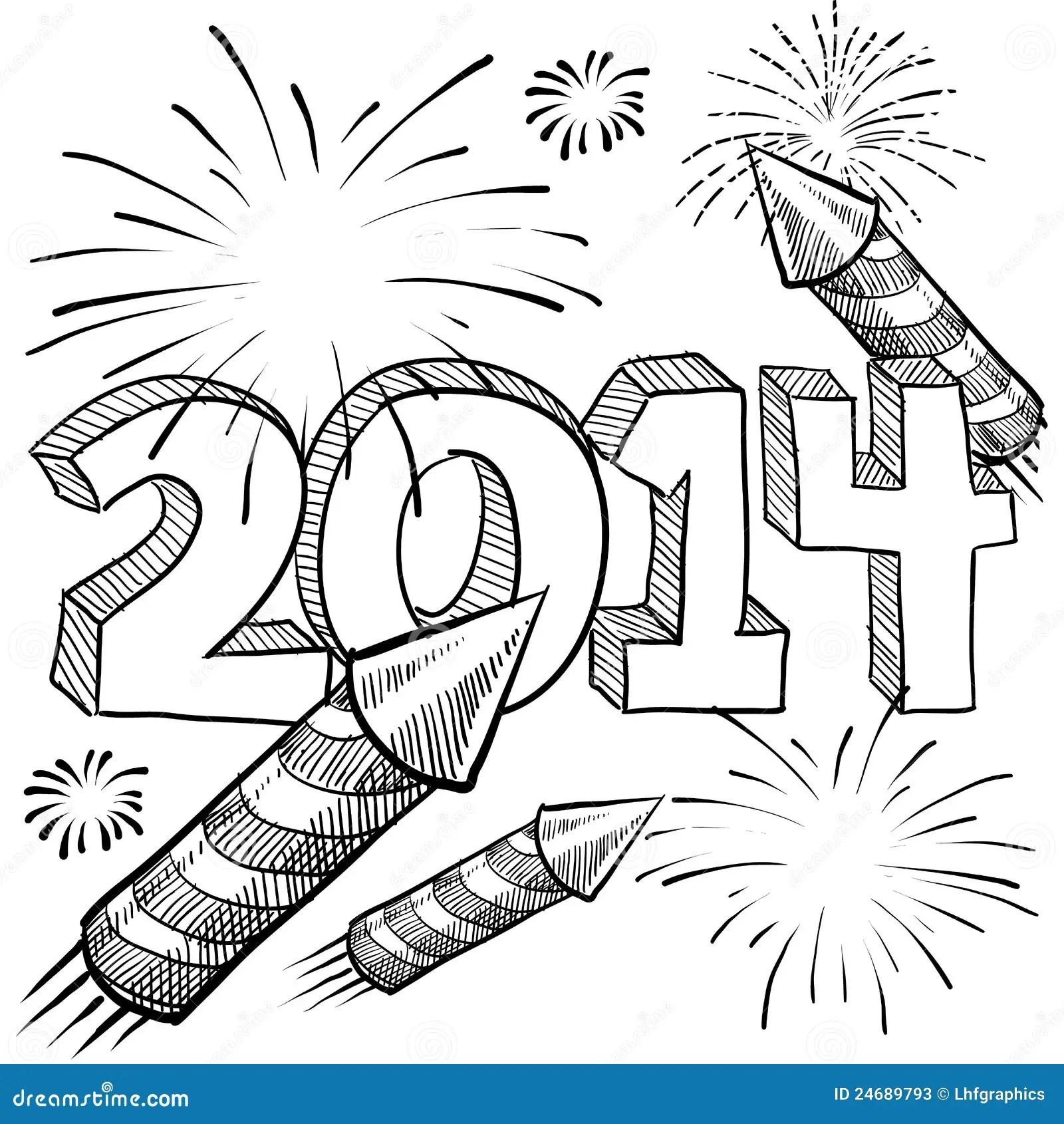 Het Vuurwerkvector Van Het Nieuwjaar Vector