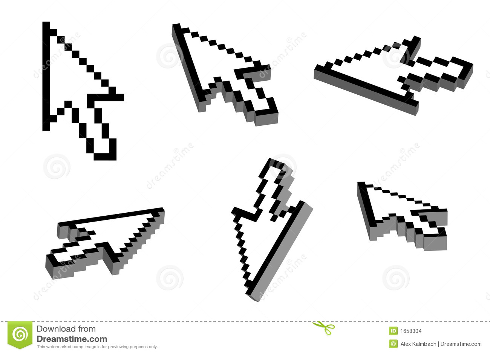 3d Arrow Cursor Stock Vector Illustration Of Pointing