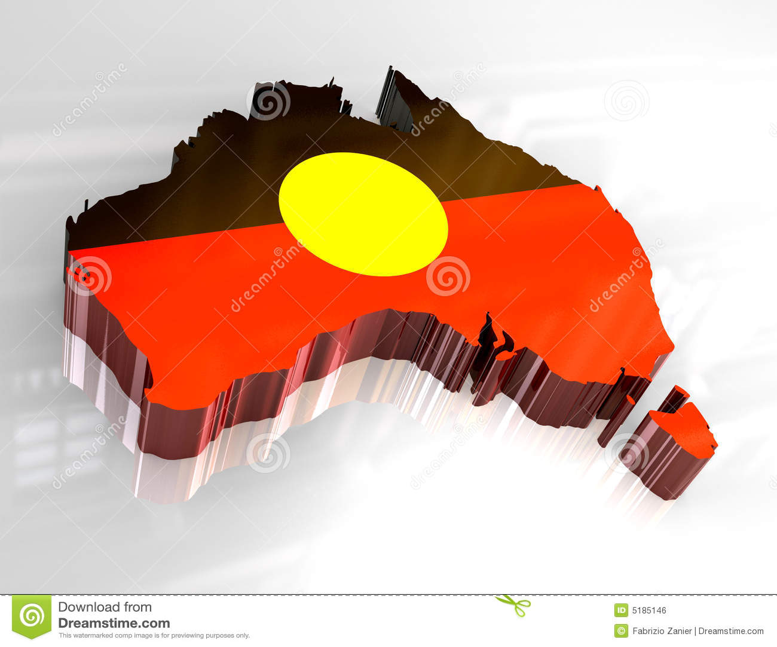 3d Flag Map Of Australian Aboriginal Stock Illustration