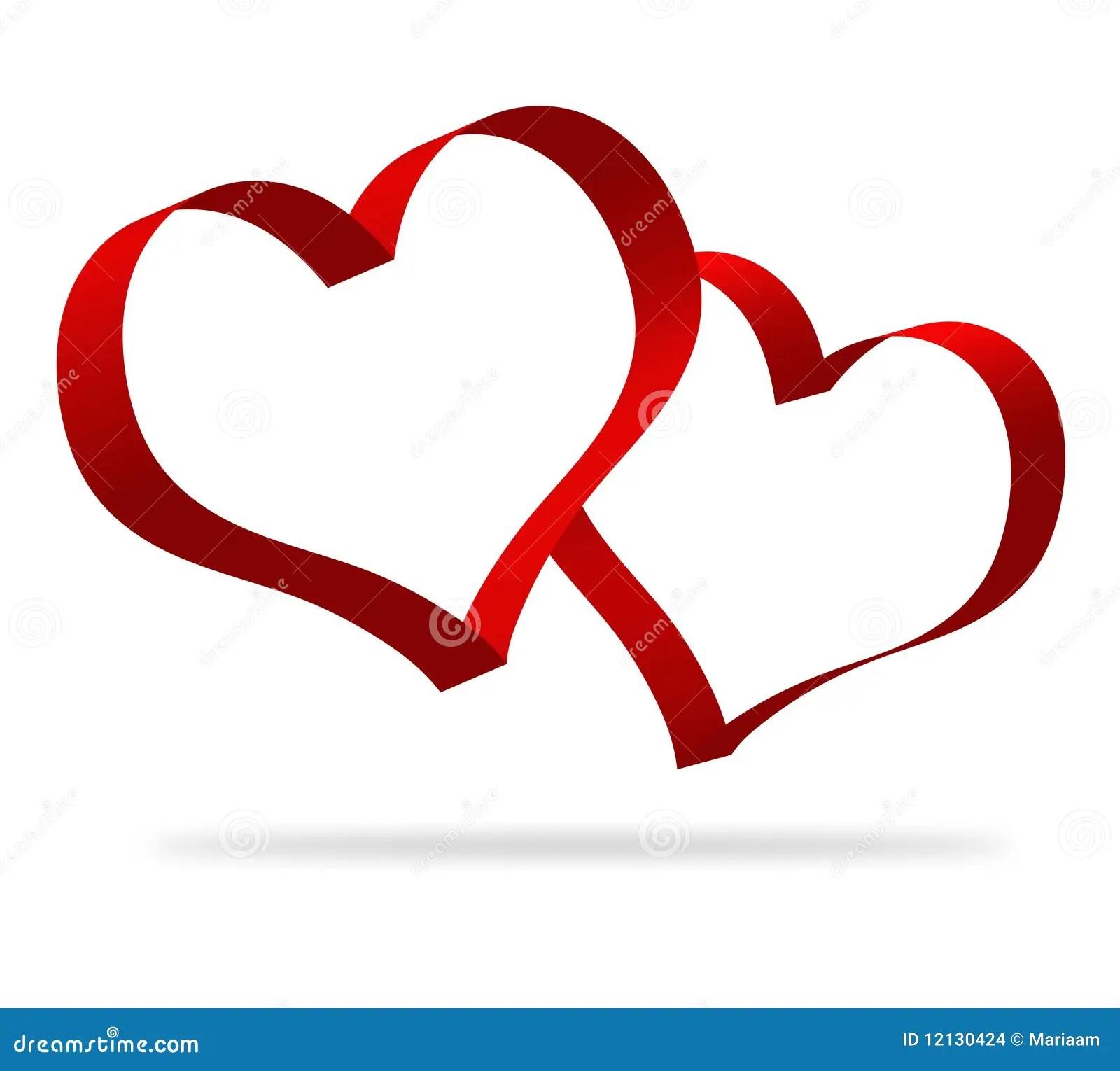 3d Heart Shapes Stock Illustration Illustration Of
