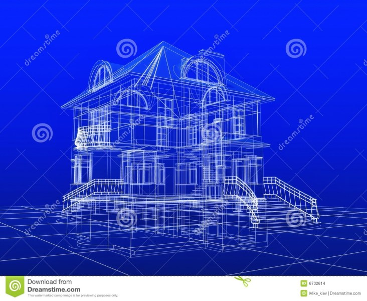 Residential Floor Plans With Dimensions Simple Floor Plan   Houses     3d house blueprint stock images image 6732614 Houses and blueprints