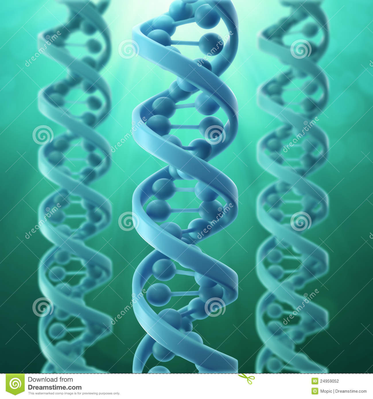 3d Model Of A Dna Strand Stock Photography