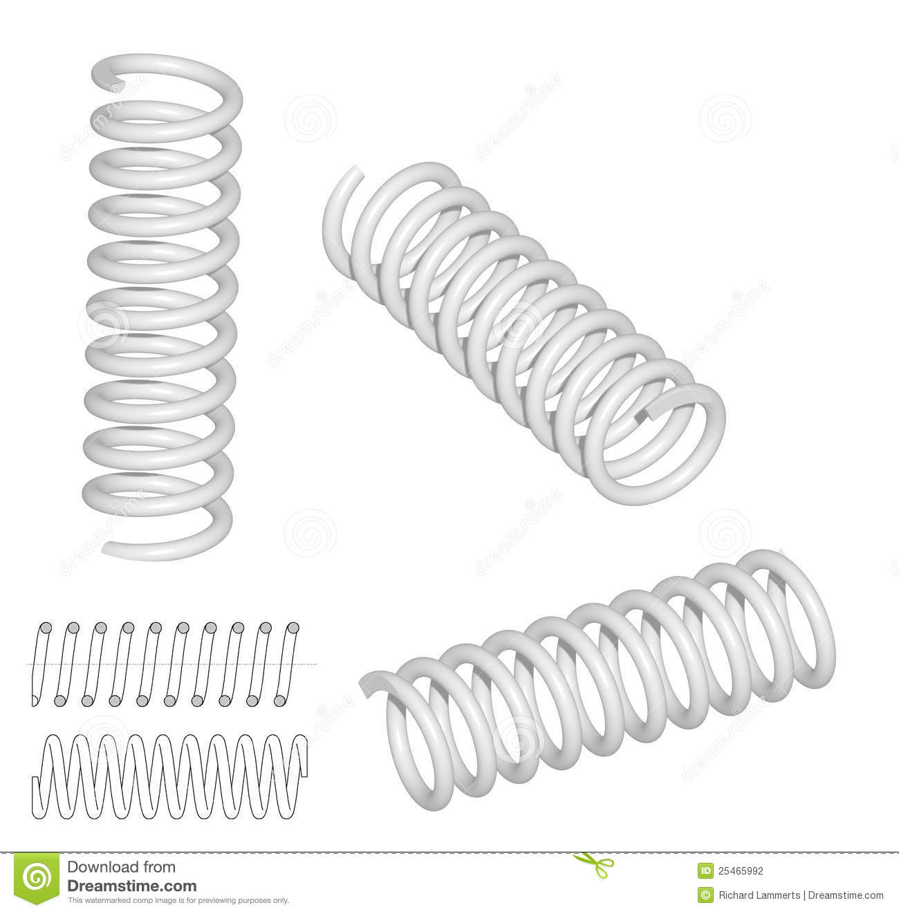 3d Render Of Coil Spring Stock Illustration Illustration