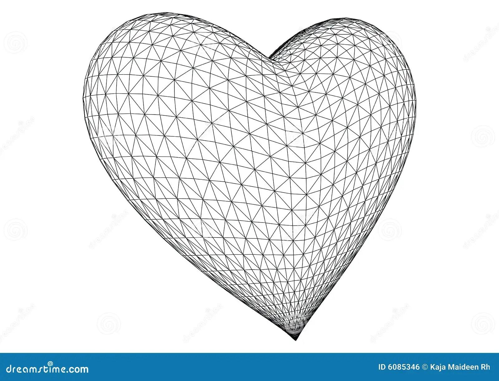 3d Rendered Heart Vector Stock Vector Illustration Of
