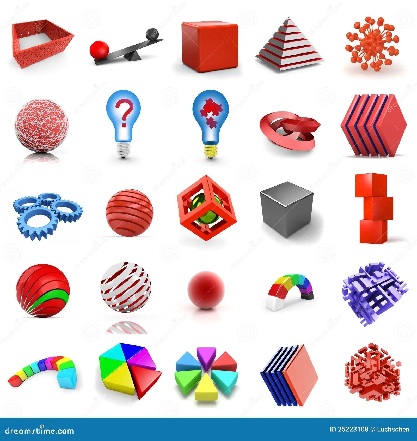 3d Shapes Stock Illustration Illustration Of Graph