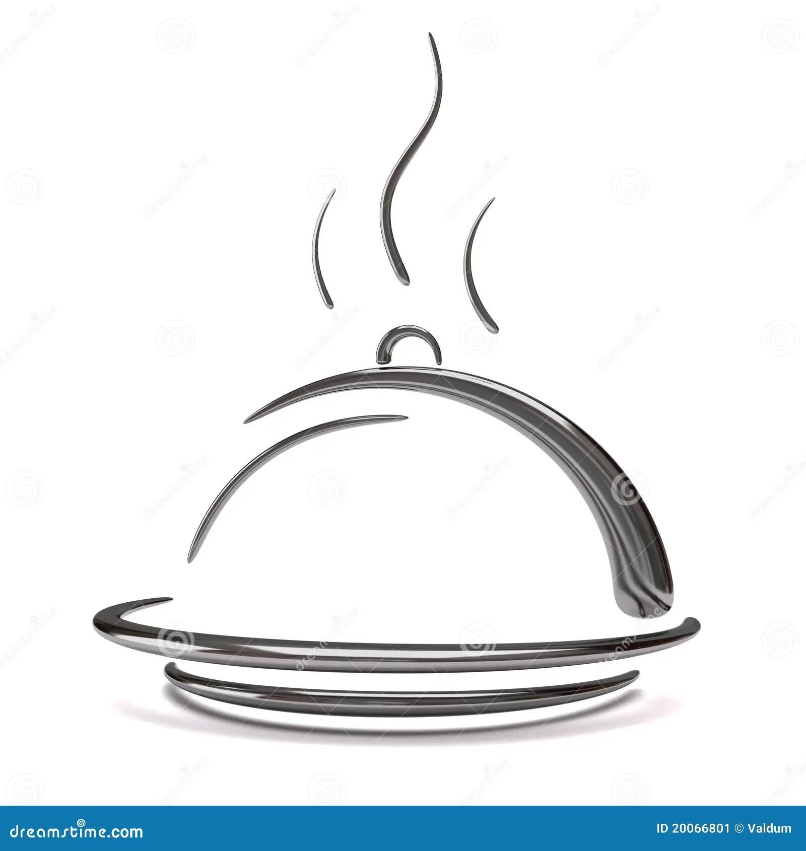 3d Silver Catering Tray Stock Illustration Illustration