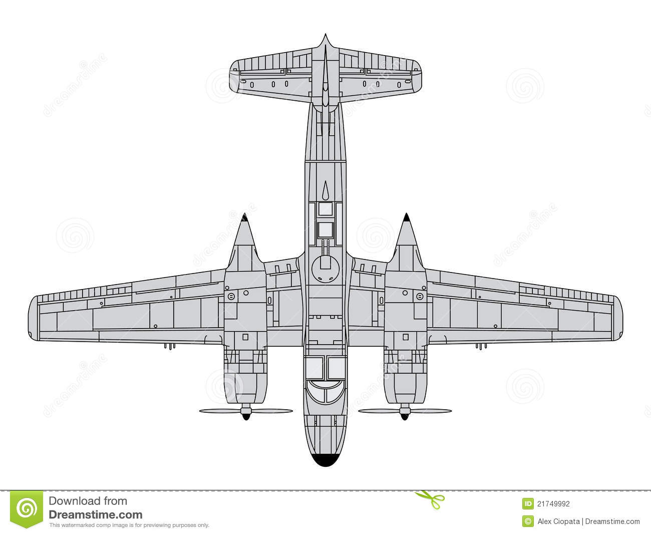 A26 Invader Stock Vector Illustration Of Airline Army