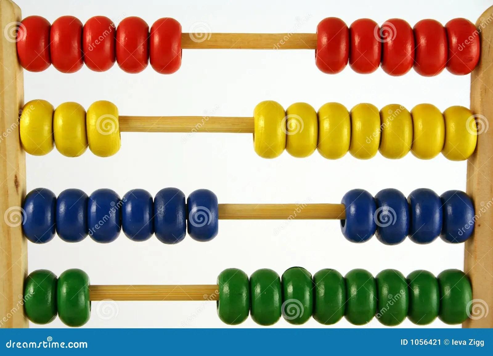 Abacus Horizontal Stock Image