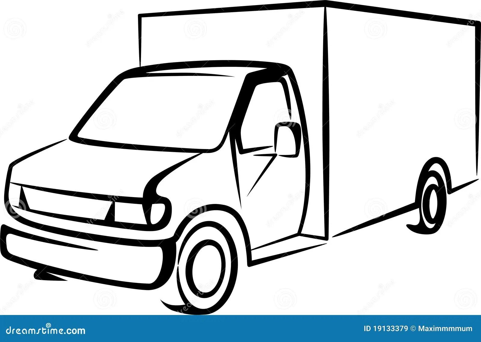 Abbildung Mit Einem Lkw Vektor Abbildung Illustration