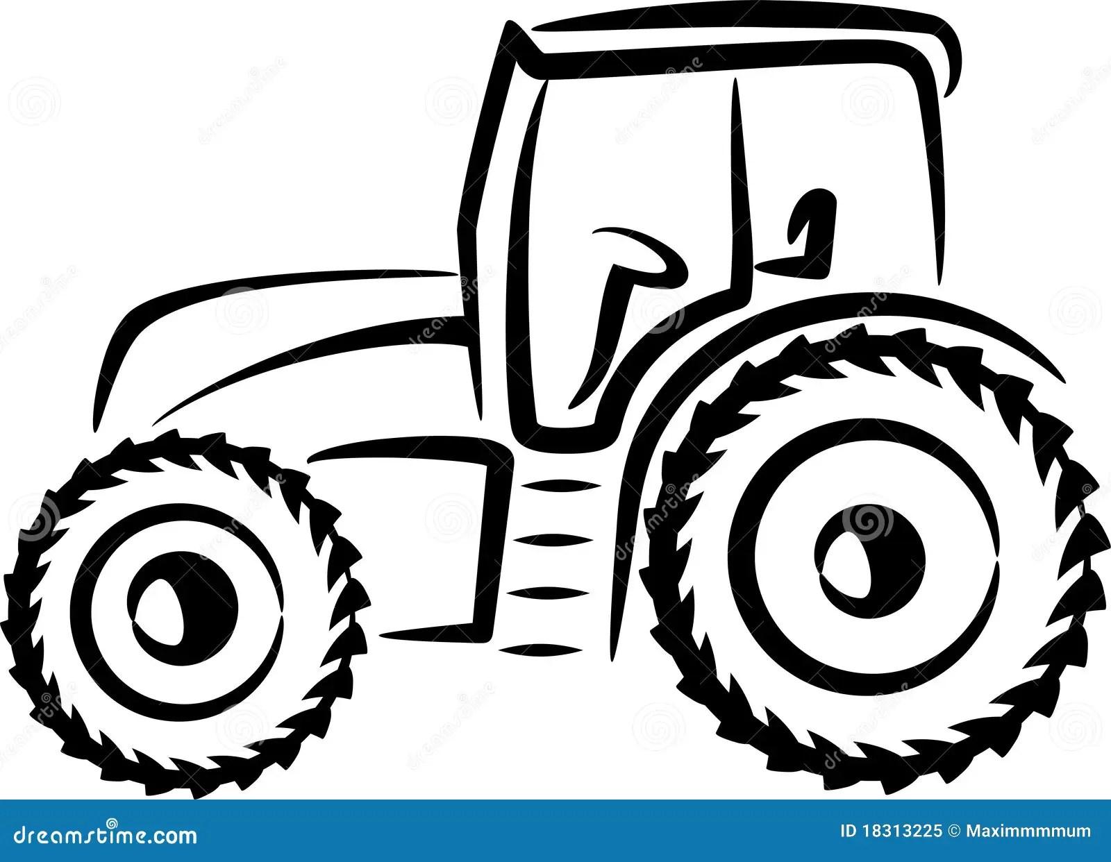 Abbildung Mit Einem Traktor Vektor Abbildung