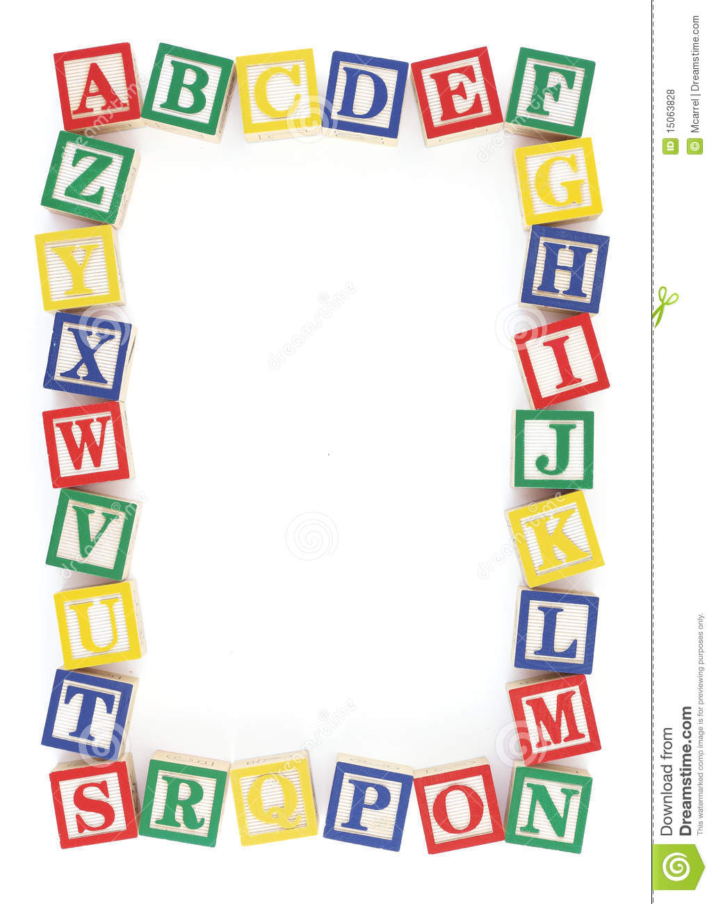 Abc Alphabet Block Frame Royalty Free Stock Photos