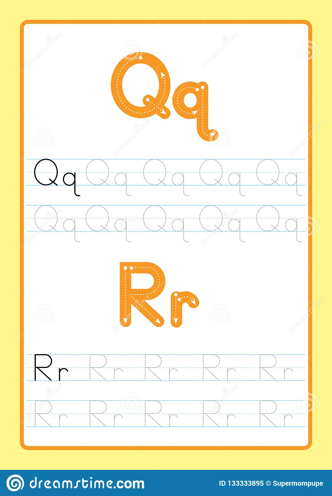 Abc Alphabet Letters Tracing Worksheet With Alphabet