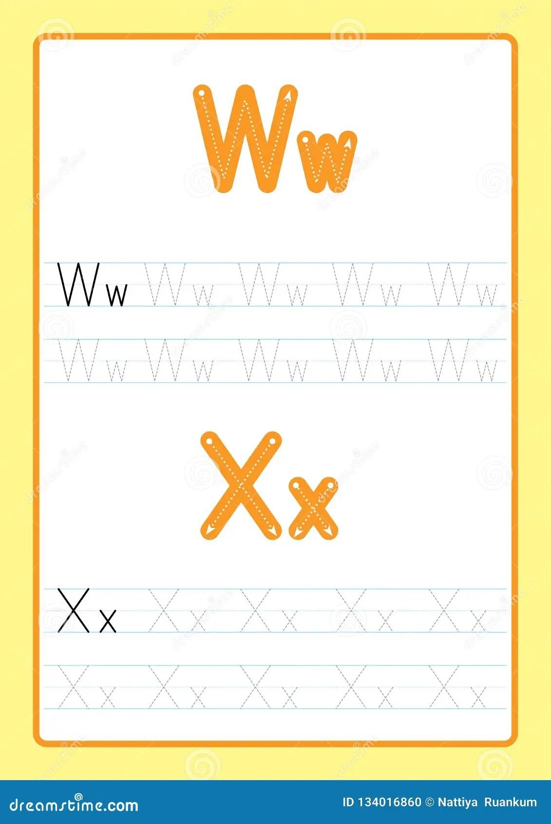 Letter E Worksheet Cartoon Vector