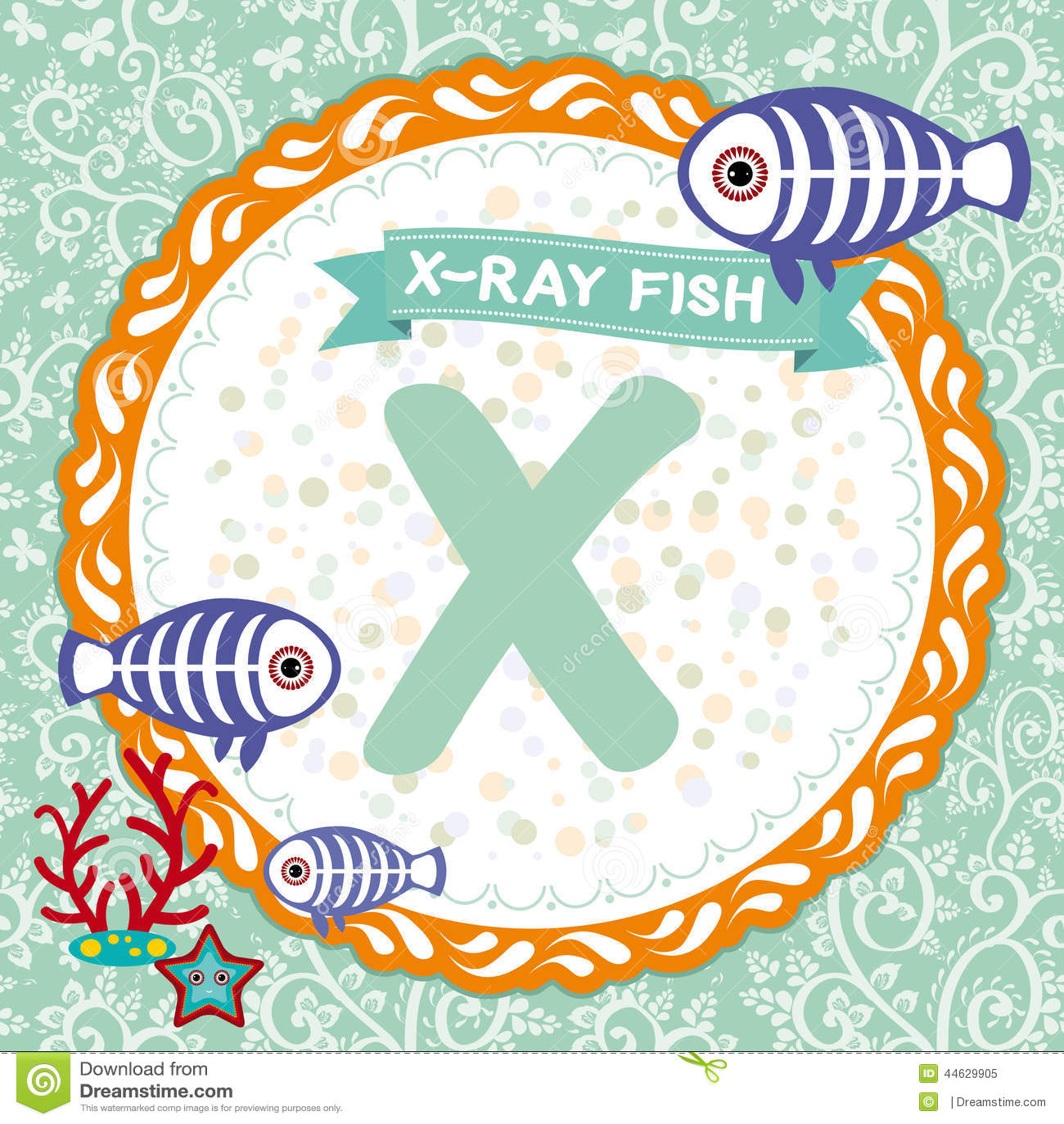 Abc Animals X Is X Ray Fish Childrens English Alphabet