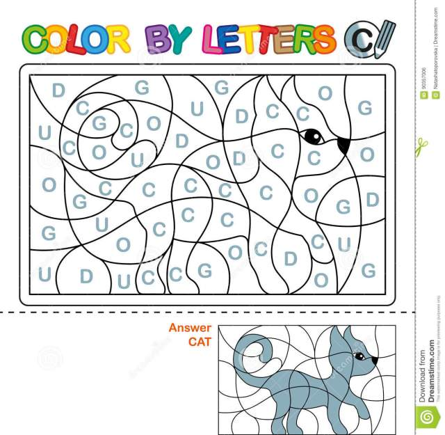 ABC Coloring Book For Children. Color By Letters. Learning The