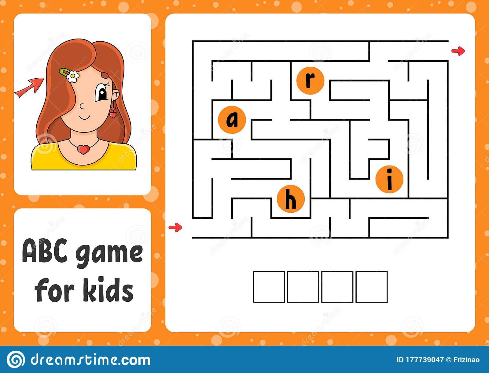 Abc Maze For Kids Answer Hair Rectangle Labyrinth