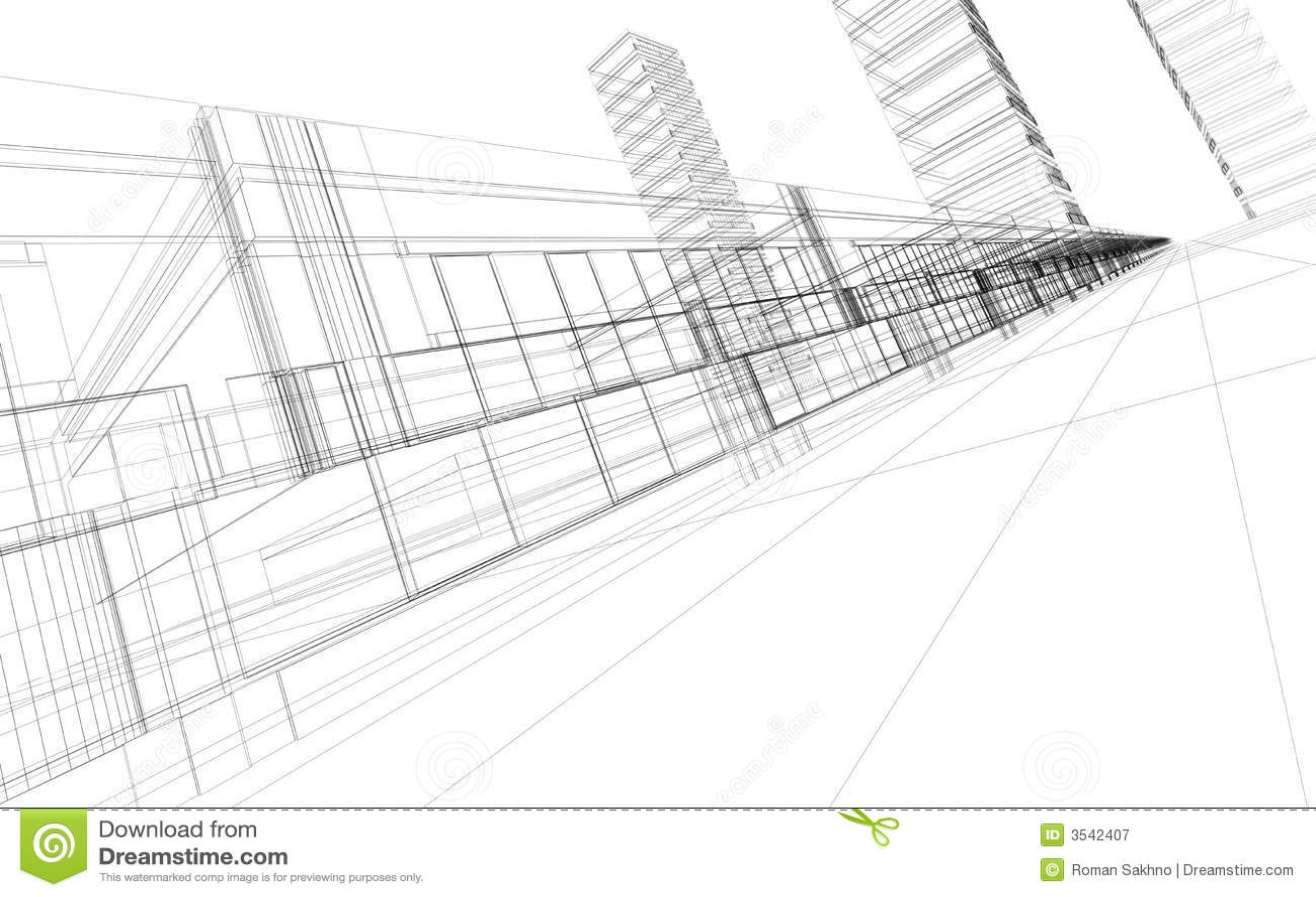 Abstract 3d Construction Stock Illustration Illustration