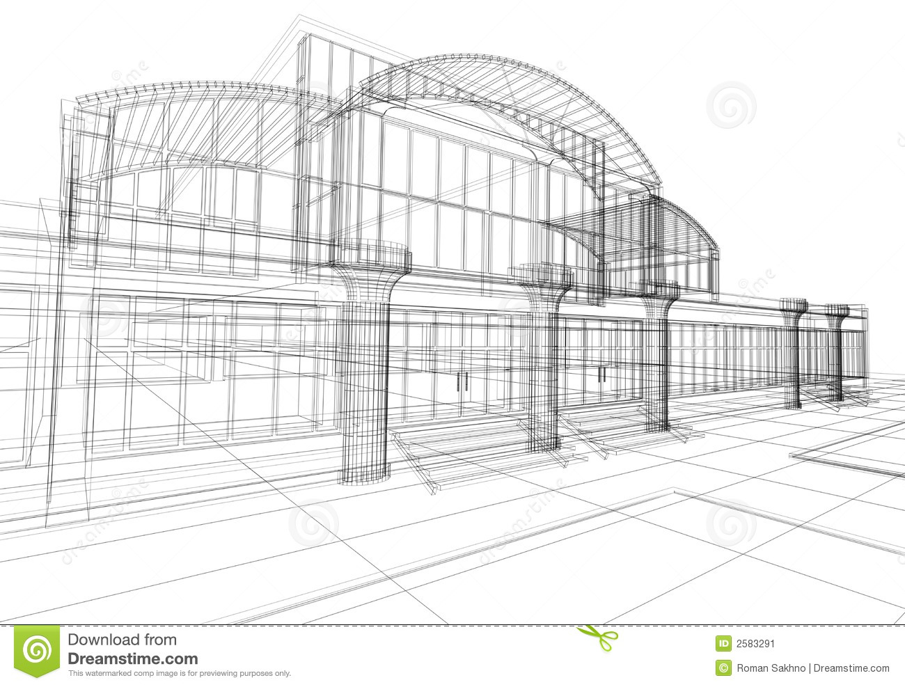 Abstract 3d Office Building Stock Illustration