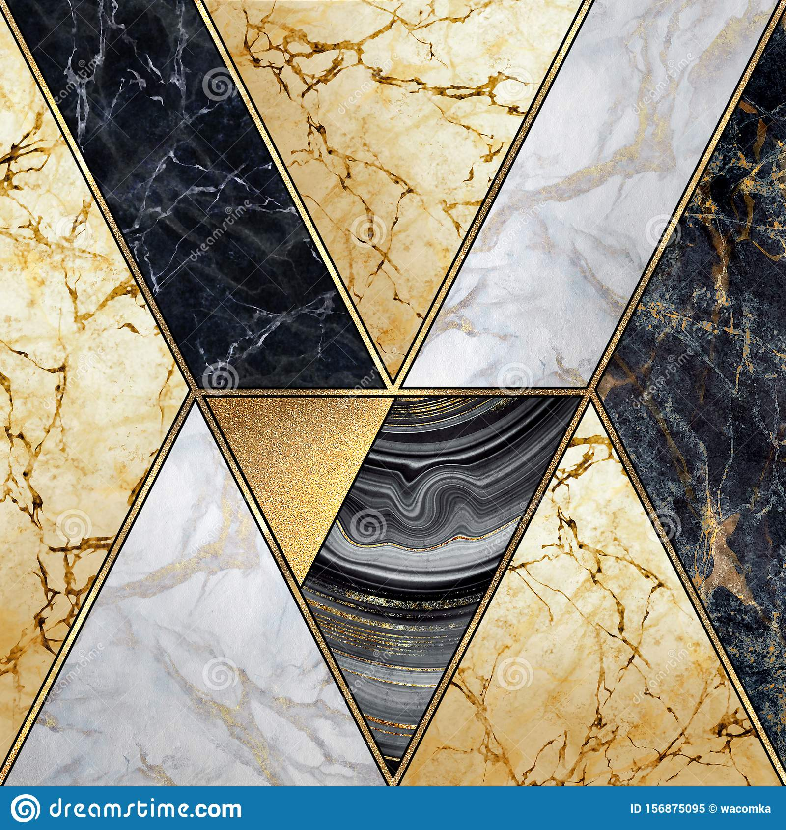 https www dreamstime com abstract art deco geometric background modern mosaic inlay creative textures marble granite agate gold artistic artificial image156875095