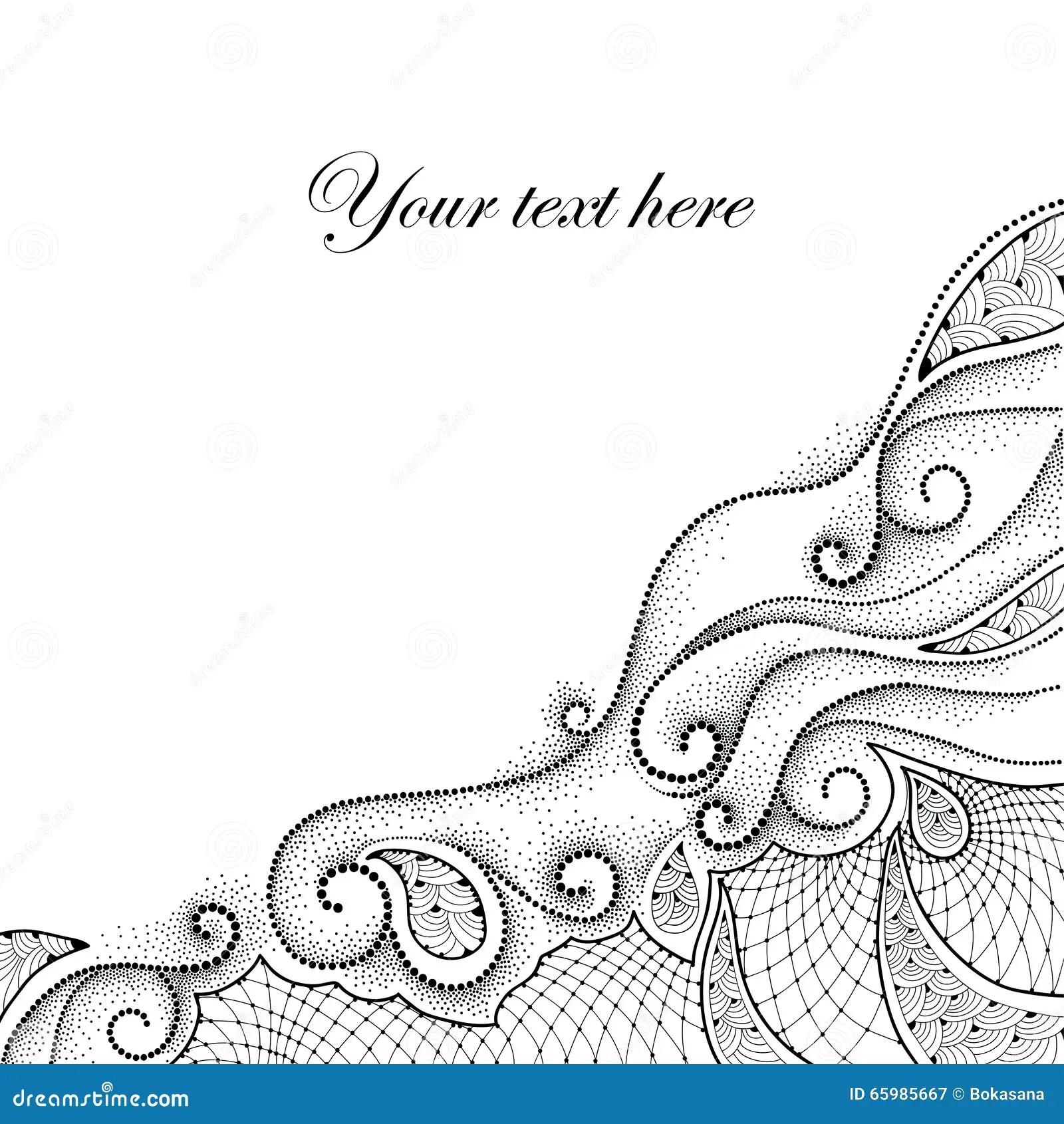 Lace Corner White Vector Illustration