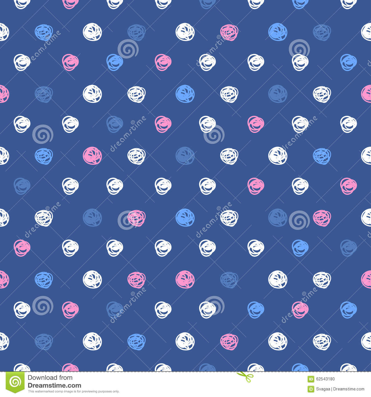 Abstract Background With Round Brush Strokes Stock