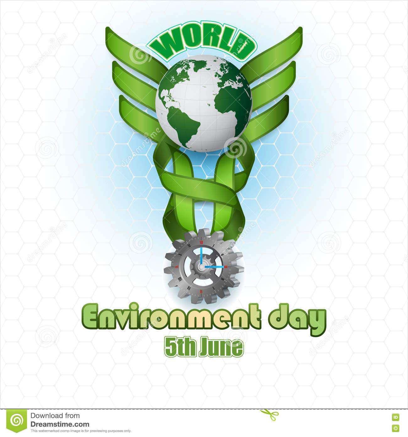 Abstract Background For World Environment Day Stock