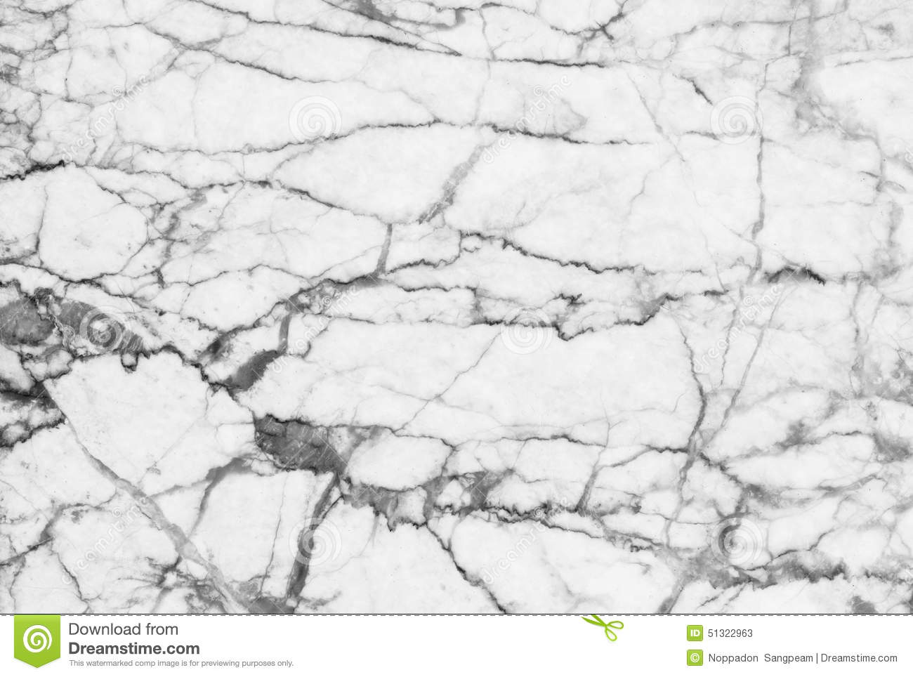 Abstract Black And White Marble Patterned Natural