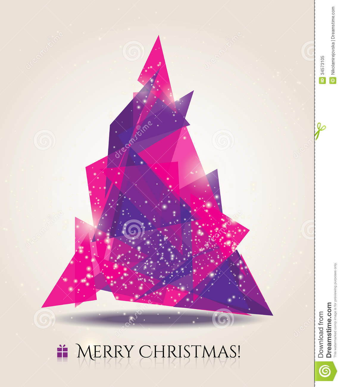 Abstract Christmas Card With Modern Elements Stock