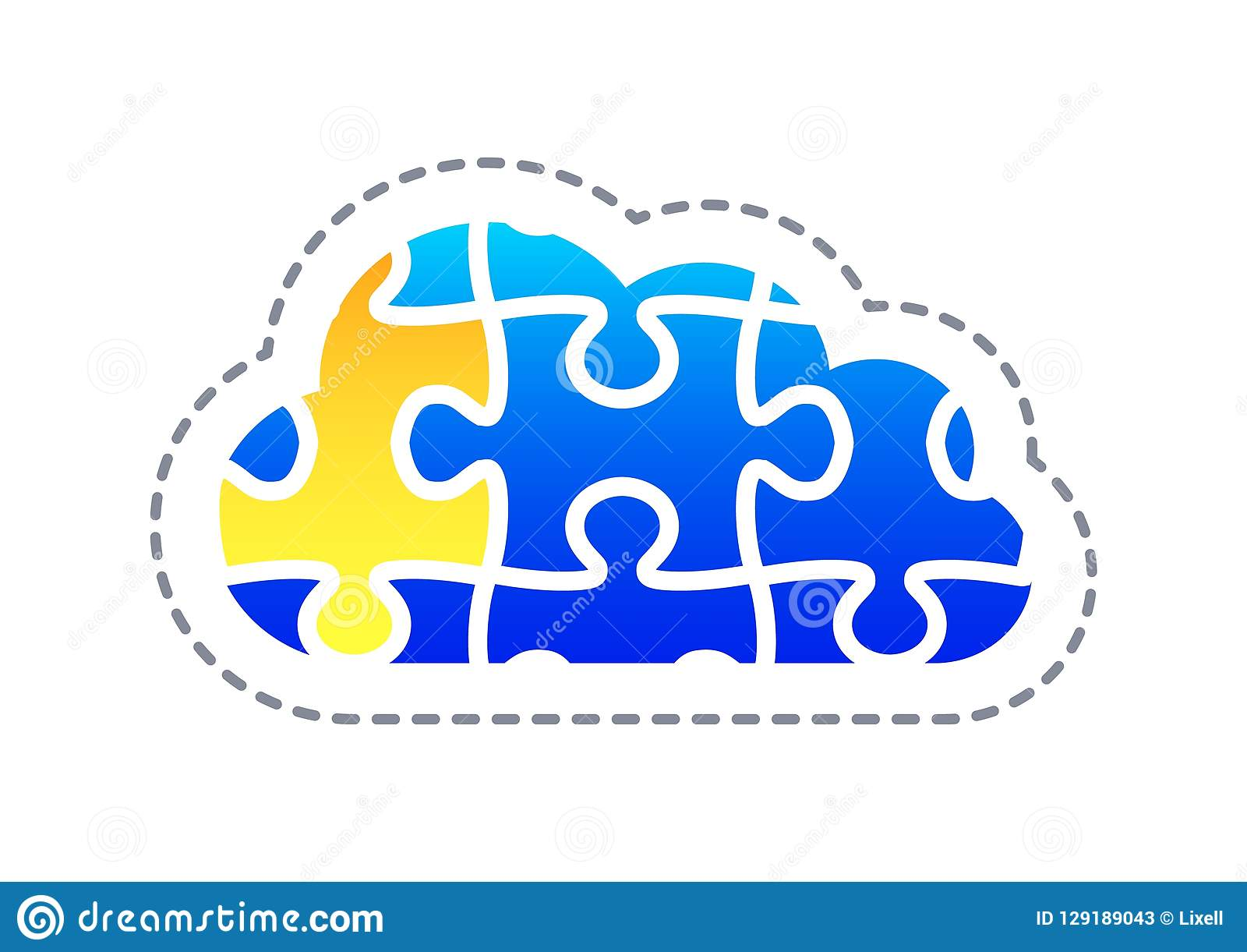 Abstract Cloud Technology In The Future Background Vector