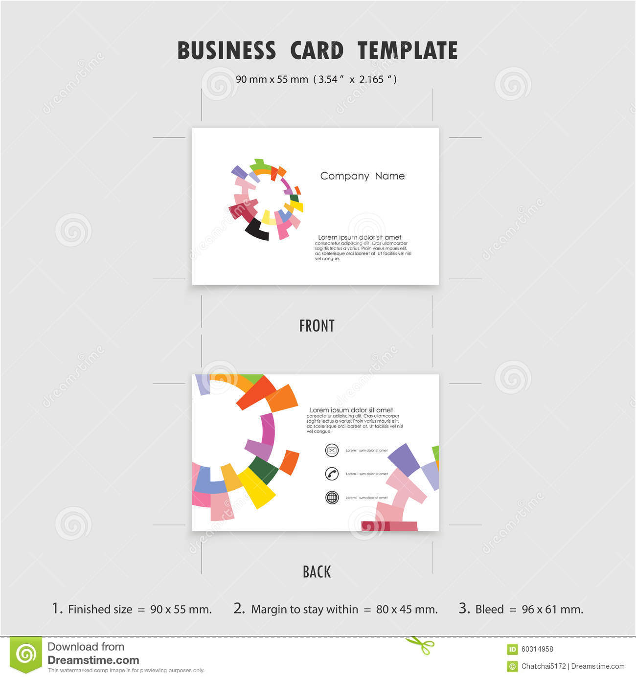business card template size photoshop choice image templates