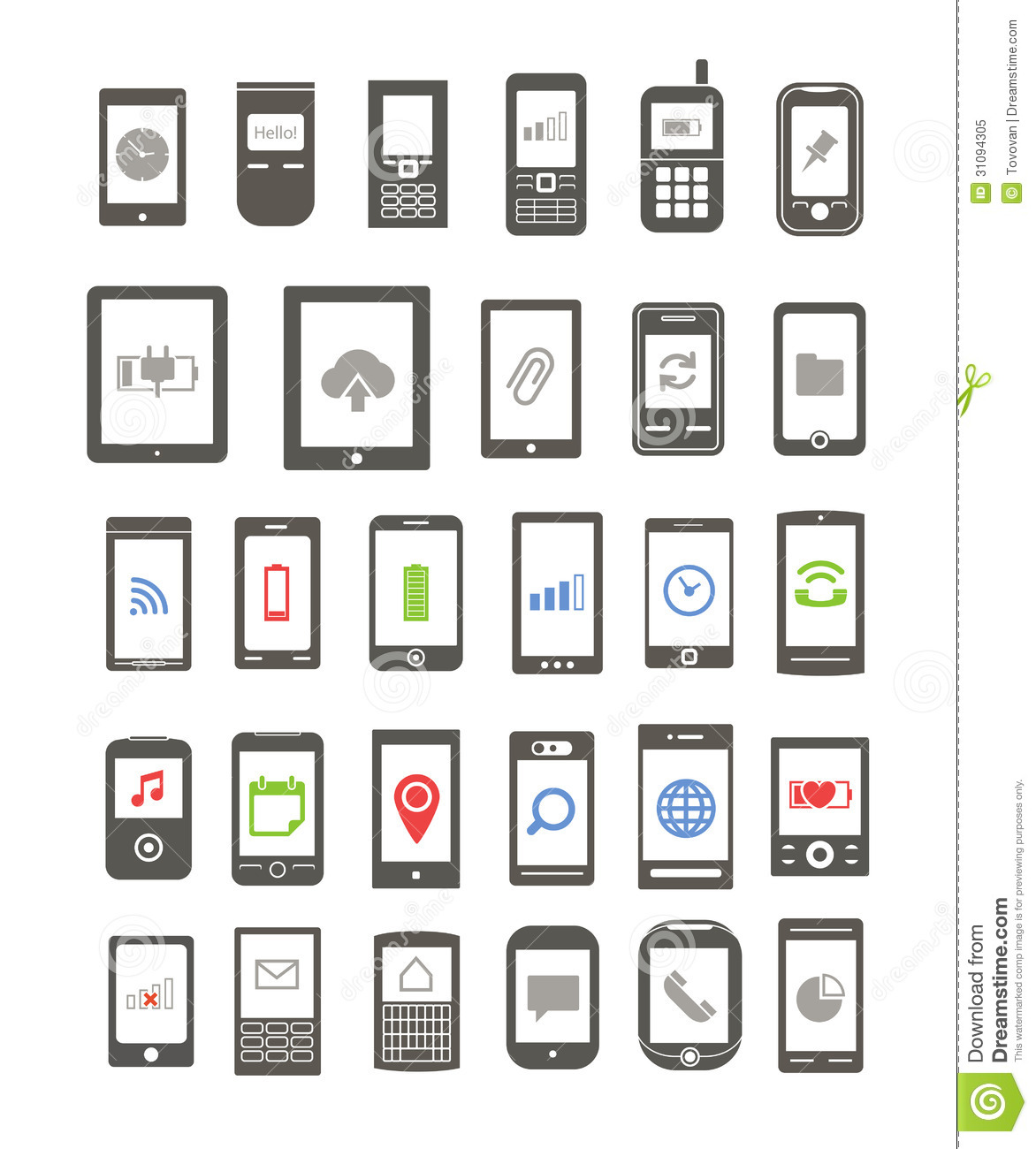 Abstract Different Mobile Gadgets Royalty Free Stock Photo