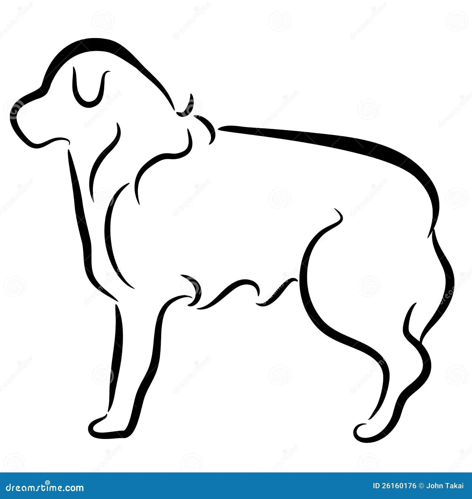 Abstract Elegant Border Collie Dog Profile Stock