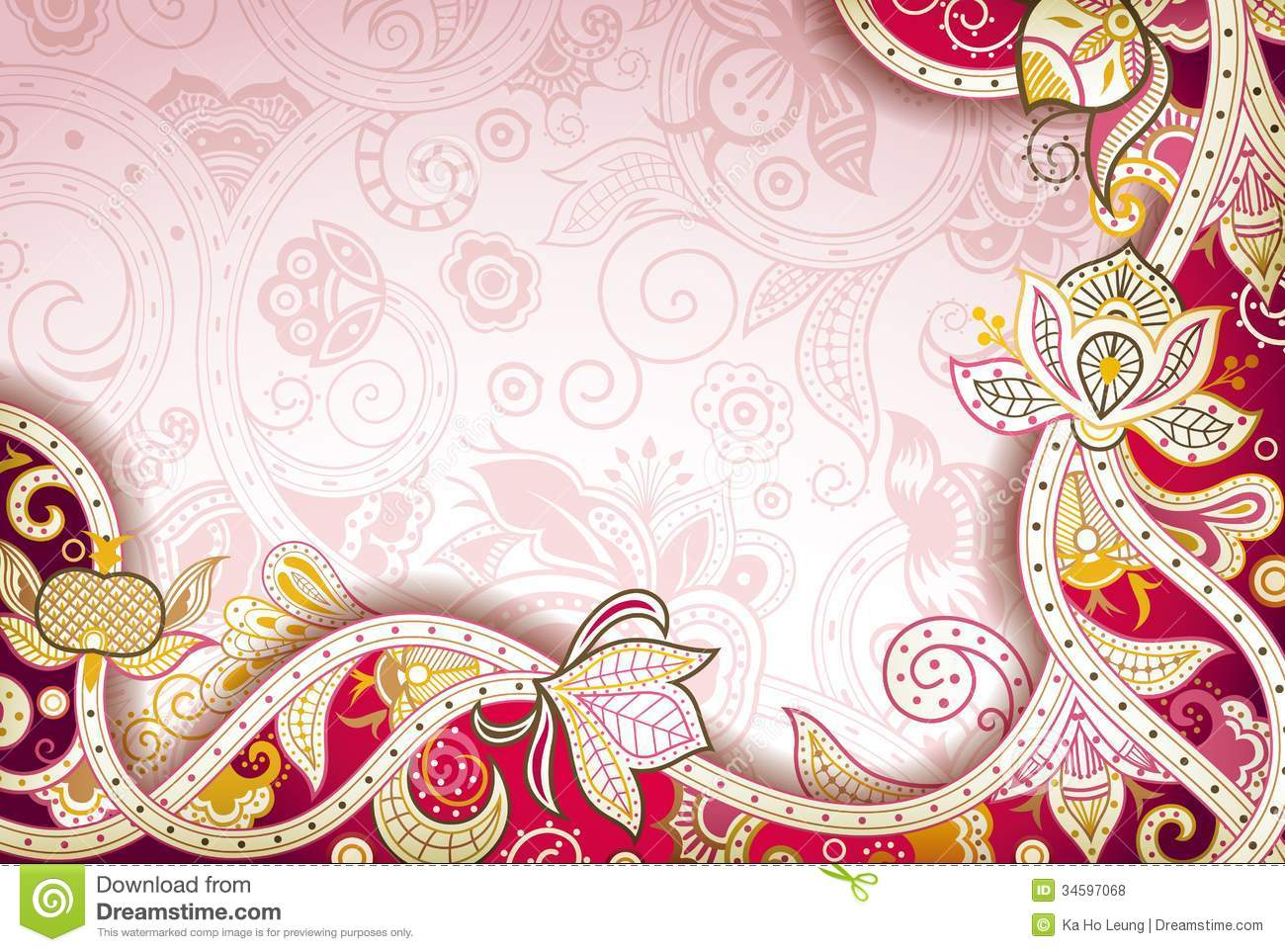 Abstract Floral Background Stock Illustration Illustration Of Scroll 34597068