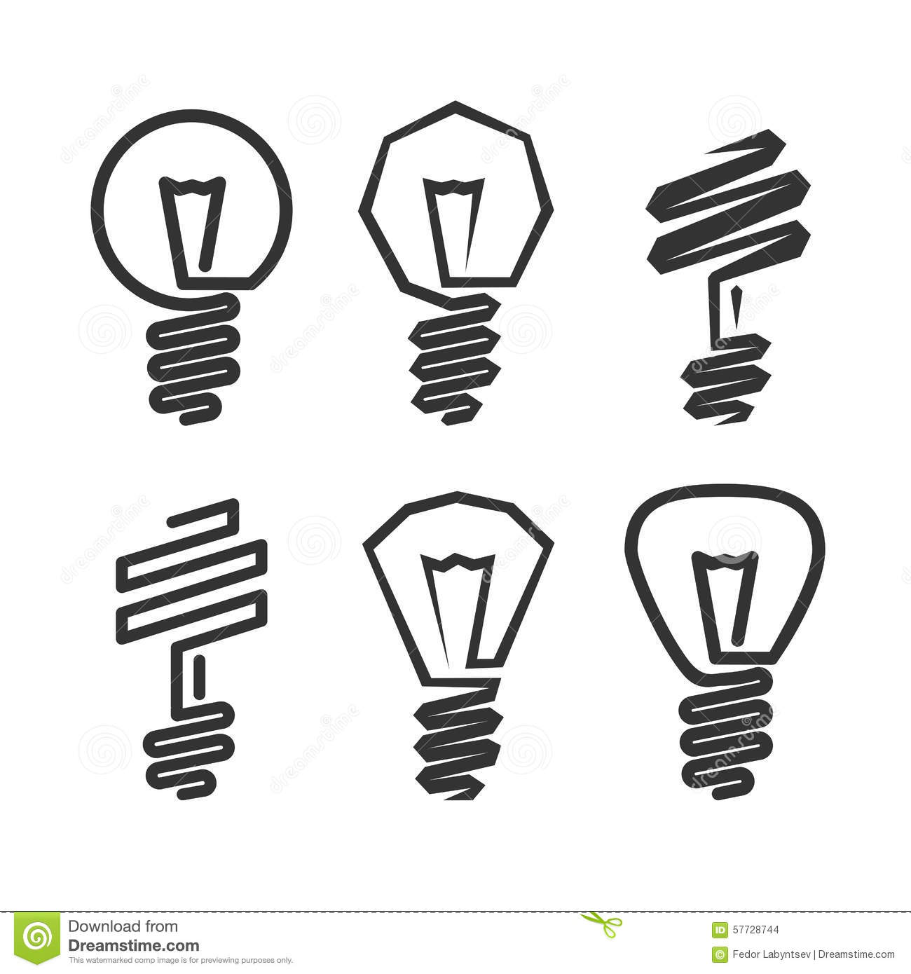 Abstract Light Bulb Icon Stock Vector