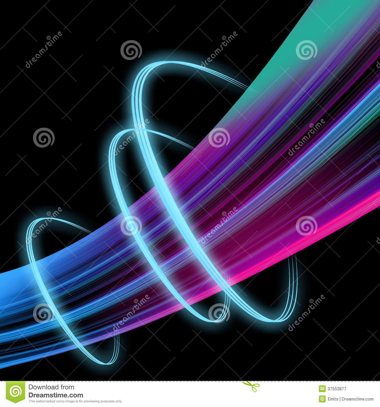 Abstract Light Wave Effect Stock Image Image Of Curving