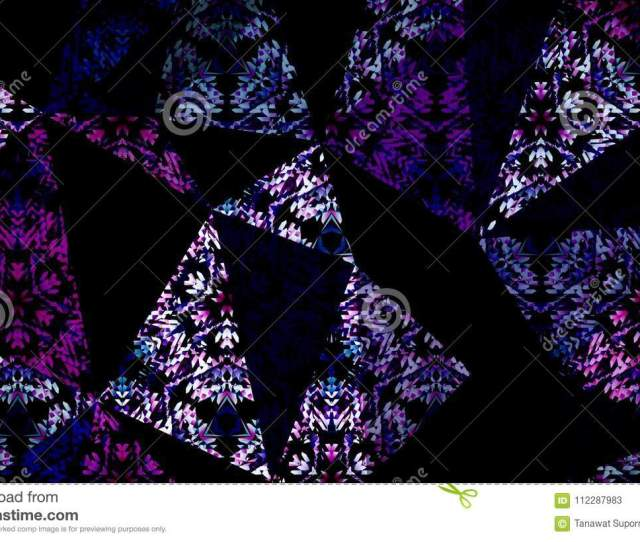 Abstract Pink Blue Purple Color Pattern Geometry Background