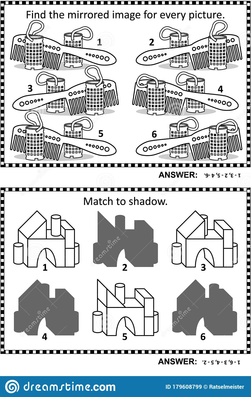 Abstract Puzzles Or Riddles For Adults Activity Sheet