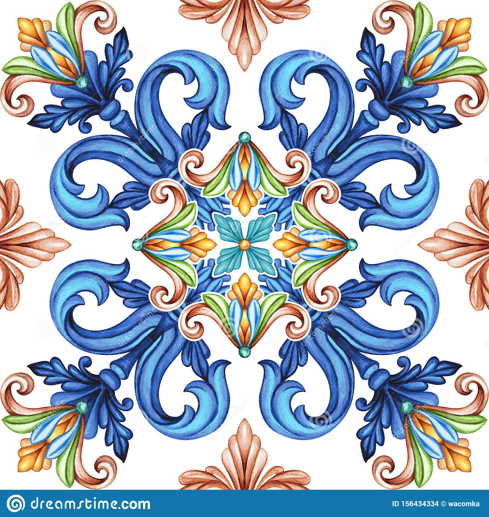 https www dreamstime com abstract seamless pattern classic design antique mosaic ornament medieval acanthus background mosaic ceramic tile abstract image156434334